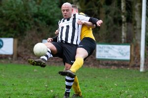 Damien Watkins scored twice for Sowerby Bridge