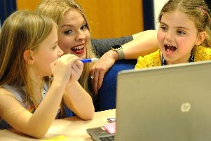 Girls had fun designing and making apps at the Chorley Stemettes hackathon