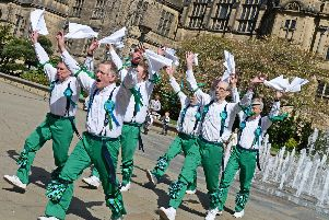 Sheffield City Morris Men pictured performing in the Peace Gardens. Picture: Marie Caley NSST St.George's MC 3