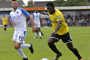 Zaine Francis-Angol won't worry about a sizeable crowd at Stockport County tomorrow