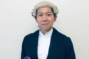 Pictured is criminal defence lawyer Denney Lau who has attained his Higher Rights of Audience to represent clients all the way to Crown Court hearings.