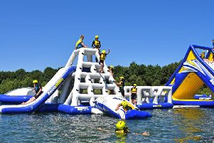 It currently offers visitors two aquatic challenge tracks alongside pedalos and open water swimming