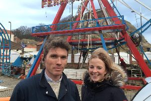 Dane and Cassie Crow at Luna Park, before the site was cleared.