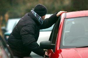 Unfortunately theft from cars and vans is quite a common crime in the East Riding. Image staged by model.