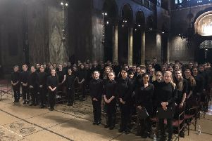LSA Technology and Performing Arts College choir at St Mark's Basilica  in Venice