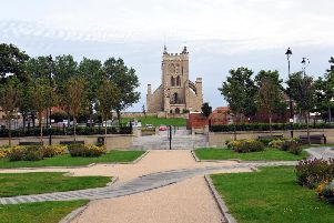 Work has began to improve Headland Town Square in Hartlepool.