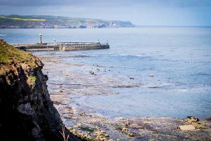 The headland at Saltwick Nab, near Whitby, has been damaged by alum quarrying