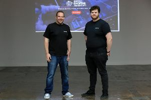 Sheffield Digital Awards 2019.  Darren Wain and Pete Amos of Stream7. Picture: Chris Etchells