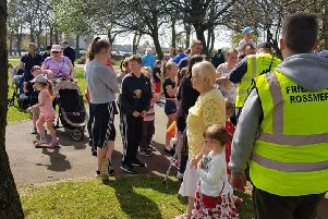 Families came out in the sun for the fun Easter event in Rossmere Park.