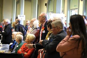 Anxious faces at the count