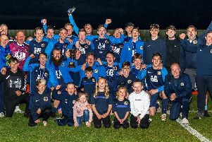 Whitby Fishermens Society celebrate winning the D&G Trophy after beating Great Ayton in the final ''                                  PICTURE BY BRIAN MURFIELD