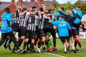 Chorley FC boss Jamie Vermiglio is hopeful for more scenes like this tomorrow. Photo credit: Stefan Willoughby