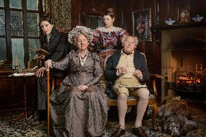 Anne Lister (SURANNE JONES), Aunt Anne Lister (GEMMA JONES), Marian Lister (GEMMA WHELAN), Jeremy Lister (TIMOTHY WEST). Picture: Lookout Point - Photographer: Jay Brooks