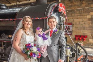 Mark and Emma work at the NYMR and they hold their wedding there.