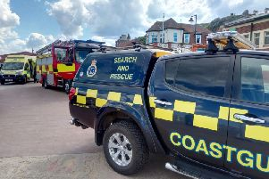 Emergency services have rescued a man who impaled his foot in a lobster pot.