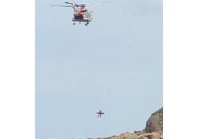 A casualty was extracted by helicopter