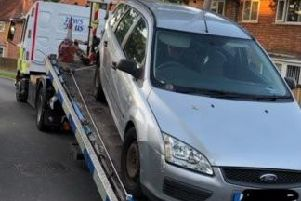 The vehicle has been seized.