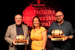 From left James Patterson, Sharon Canavar, festivals director, Steve Cavanagh