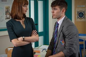 Cory (Sam Retford), Sian (Ty Glaser). Picture: Channel 4