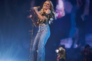 Kylie prepares for sell-out show at Scarborough Open Air Theatre