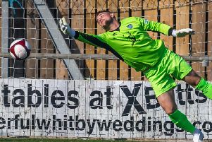 Whitby Town keeper Shane Bland