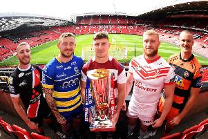 Salford's Jackson Hastings, Warington's Josh Charnley, Wigan's George Williams, St Helens' Luke Thompson and Castleford's Cheyse Blair all set for the Super League play-offs. Picture: SWPix