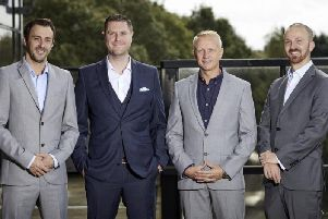 Pictured left to right: Dave Hall, Stuart Thompson, Jon Palmer and Marc Davis