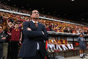 Bradford City manager Gary Bowyer is hoping that the club's supporters will roar his players on to victory once more this Saturday. Picture: Getty Images