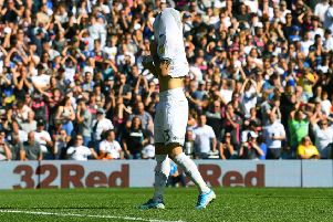 Costly miss: Leeds United's Mateusz Klich after missing his penalty.'Picture: Jonathan Gawthorpe