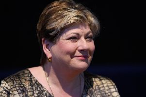 Shadow Foreign Secretary Emily Thornberry prepares to address delegates during a pro-EU event at Labour Party conference in Brighton. Photo: Leon Neal/Getty Images)
