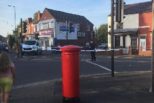 Police in Bickershaw Lane
