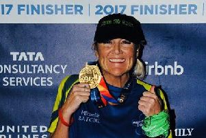 Michelle Brown-Crowther is running marathons in Berlin and Chicago