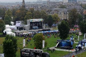Harrogate's UCI cycling fan zone on the Stray has closed, and there will be no live music tonight.
