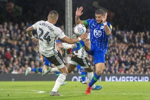 Sam Morsy in action against Fulham