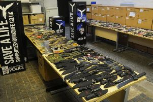Hundreds of knives have been handed into police