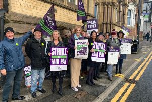 MPs Jo Platt, Yvonne Fovargue and Lisa Nandy on the picket line