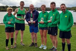 Some of the Worksop Harriers who competed in the Round Rotherham Run and Relay.
