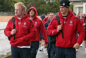 Sean O'Loughlin (right) with James Graham on international duty