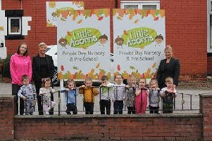 Staff and children at Little Acorns Nursery in Atherton have raised 2,000 for Alzheimers Society