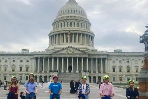 The Bike and Roll DC guided Segway tour. (PA).