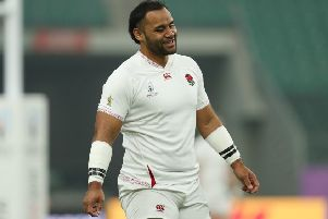 Billy Vunipola during England's Captains Run at Oita Stadium. (Pictures: David Davies/PA Wire)