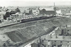 A view of the long demolished Central Station on Station Road with the Ritz cinema in the background