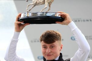 Cieren Fallon with his award