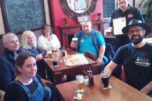Wigan Camra presents Dean McDonald with the pub of the season award