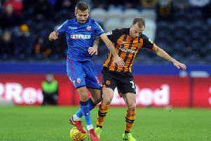Gary O'Neil, pictured in action for Bolton Wanderers against Hull City last season.