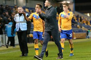 Stags are booed after the final whistle.