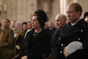 Olivia Colman as Queen Elizabeth II and Tobias Menzies as The Duke of Edinburgh