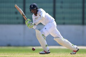 CHITTAGONG, BANGLADESH - OCTOBER 17:  Haseeb Hameed of England bats during day two of the tour match between a Bangladesh Cricket Board XI and England  at MA Aziz stadium on October 17, 2016 in Chittagong, Bangladesh.  (Photo by Gareth Copley/Getty Images)