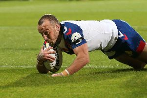Josh Hodgson scored one of the tries which helped put GB 10-0 up