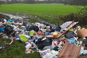 Fly-tipping found by a Wigan Council officer at a notorious borough hotspot